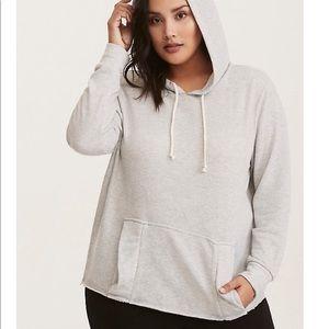 TORRID ruffle pocket hoodie size 1